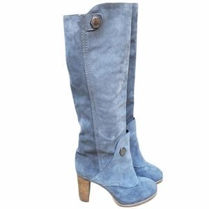 Marc by Marc Jacob Grey Suede Heeled Boots